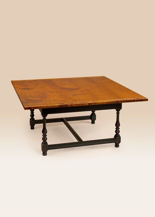 Square Stretcher Base Coffee Table Image