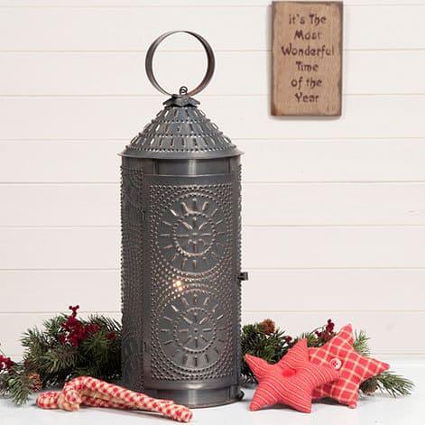 Chimney Lantern in Blackened Tin Image