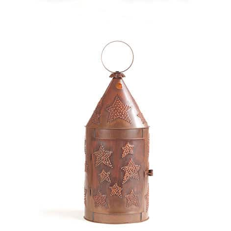 Blacksmith's Lantern with Star in Rustic Tin Image