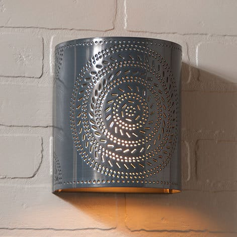 Chisel Sconce Light in Country Tin Image