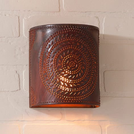 Chisel Sconce Light in Rustic Tin Image