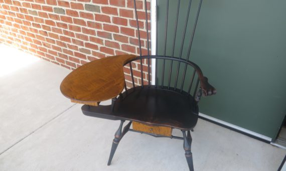 Colonial Style Windsor Writing Armchair