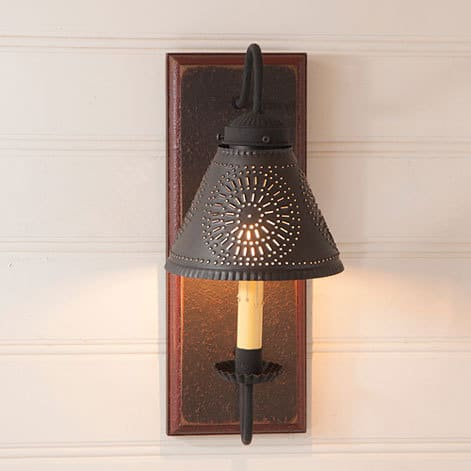 Crestwood Sconce in Americana Espresso with Salem Brick Image