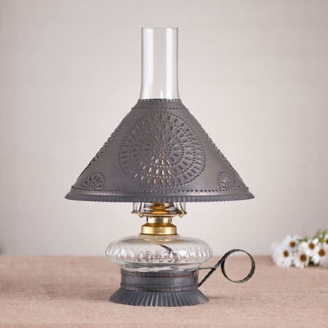 Cupid Oil Lamp with Chisel Shade Image