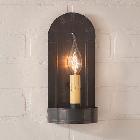 Fireplace Sconce in Blackened Tin Image
