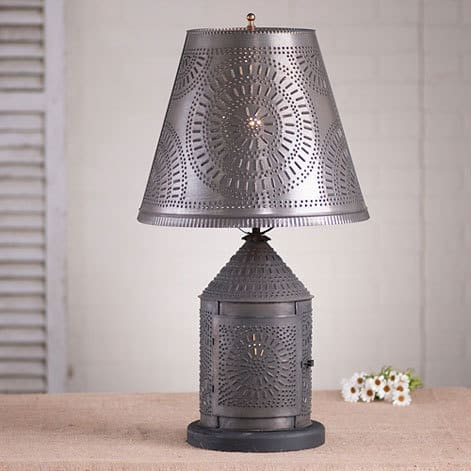 Fireside Lamp with Chisel Shade Image