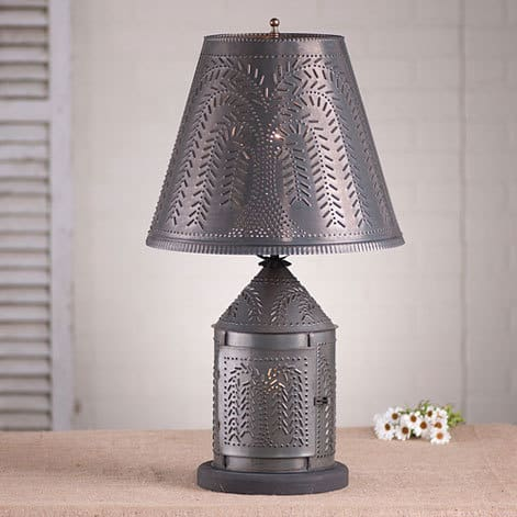 Fireside Lamp with Willow Shade Image