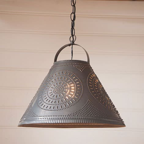 Homestead Shade Light with Chisel in Blackened Tin Image