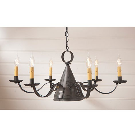 Madison Chandelier in Blackened Tin Image