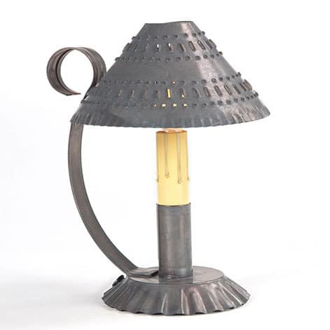 Prairie Accent Light with Chisel Design in Blackened Tin Image