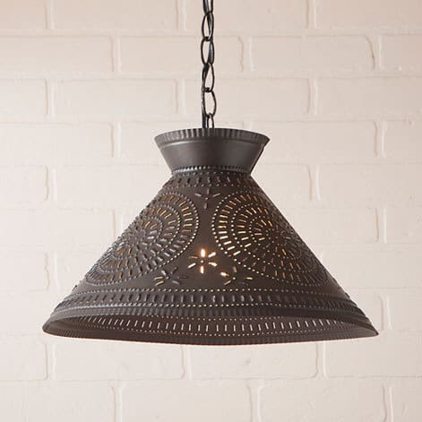 Roosevelt Pendant Light with Chisel Design in Kettle Black Image