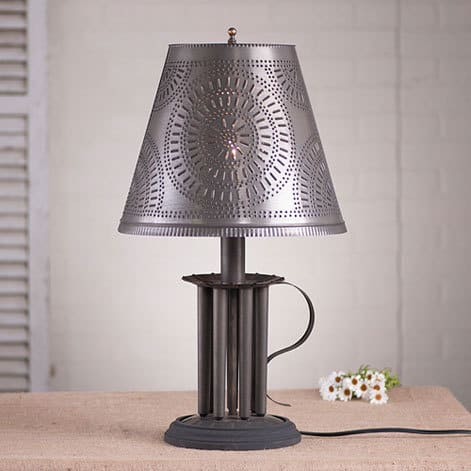 Round Candle Mold Lamp with Chisel Shade Image