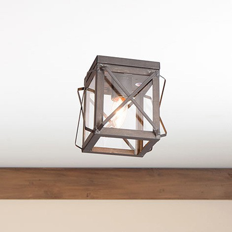 Single Ceiling Light with Folded Bars Image