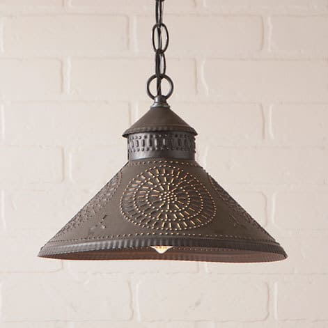 Stockbridge Pendant Light with Chisel Design in Kettle Black Image