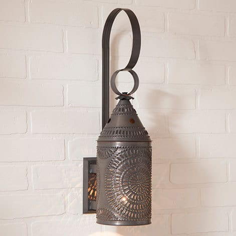 Wall Lantern in Blackened Tin Image