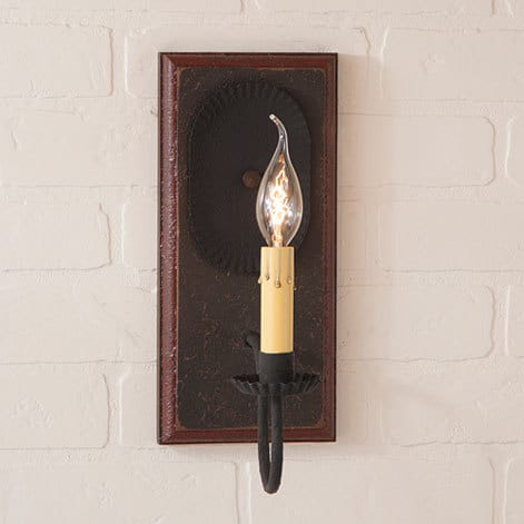 Wilcrest Sconce in Americana Espresso with Salem Brick Image