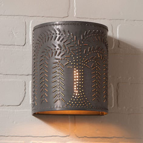 Willow Sconce Light in Blackened Tin Image