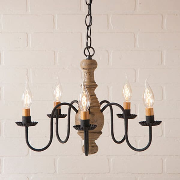 Lancaster Wooden Chandelier in Americana Pearwood Image