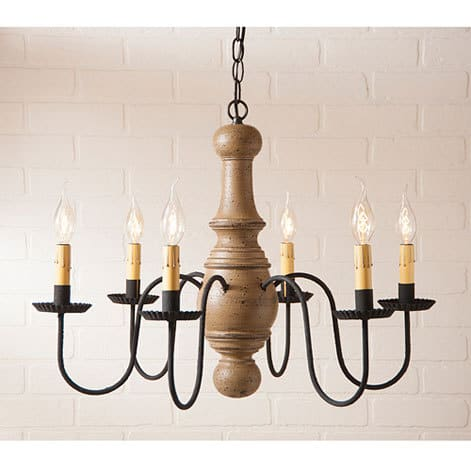 Maple Glenn Wooden Chandelier in Americana Pearwood Image