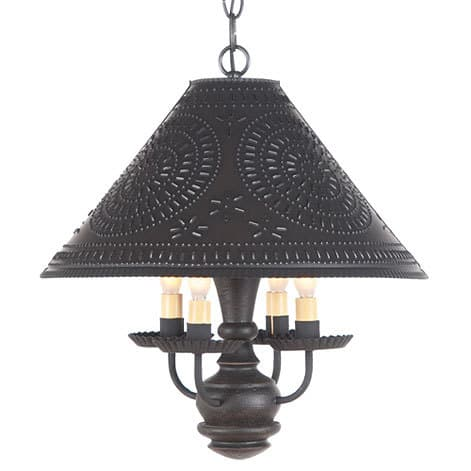 Homespun Wooden Shade Light in Americana Black Image
