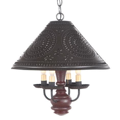 Homespun Wooden Shade Light in Americana Plantation Red Image