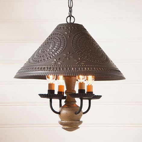 Homespun Wooden Shade Light in Americana Pearwood Image