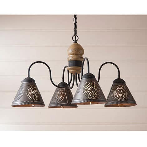 Cambridge Chandelier in Americana Pearwood Image