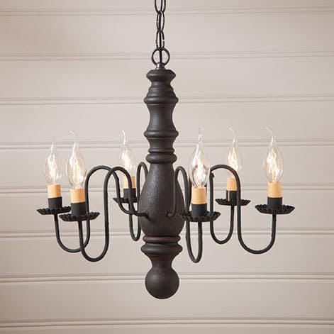 Manassas Chandelier in Hartford Black over Red Image