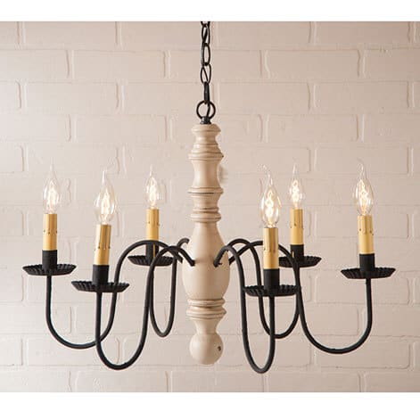 Manassas Wooden Chandelier in Sturbridge White Image