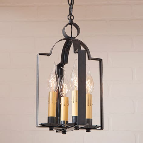 Four Light Saddle Light in Blackened Tin Image