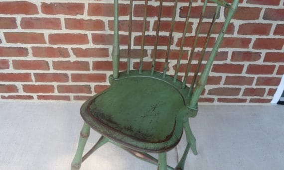 apple green birdcage windsor chair