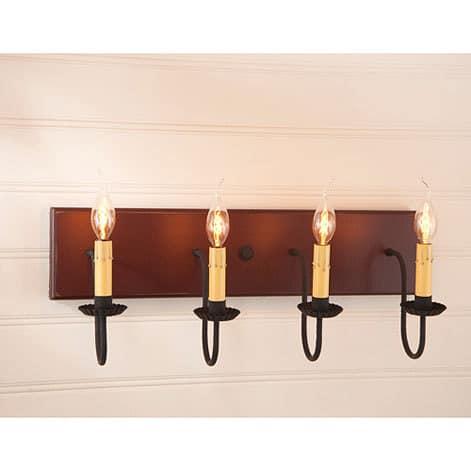 Four Arm Vanity Light in Sturbridge Red Image