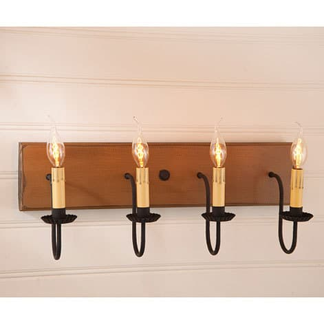 Four Arm Vanity Light in Sturbridge Mustard Image