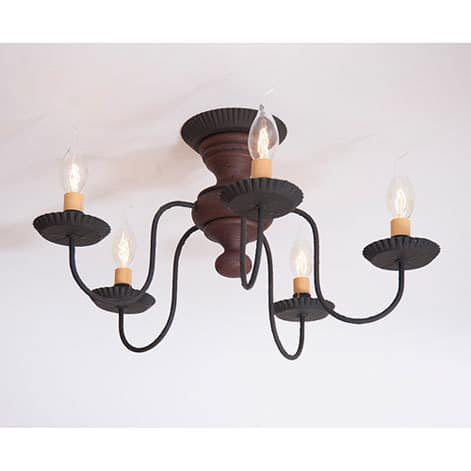 Thorndale Ceiling Light in Hartford Red over Black Image