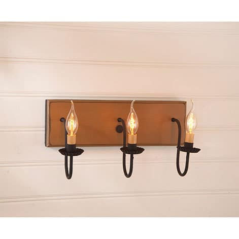 Three Arm Vanity Light in Sturbridge Mustard Image