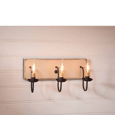 Three Arm Vanity Light in Sturbridge White Image