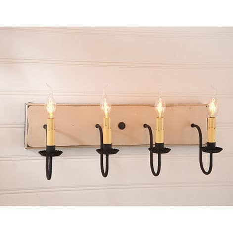 Four Arm Vanity Light in Sturbridge White Image