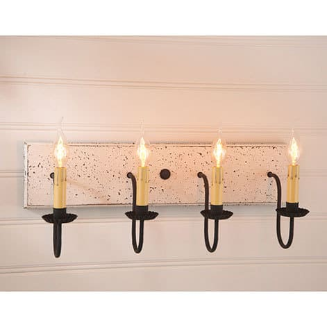 Four Arm Vanity Light in Americana Vintage White Image