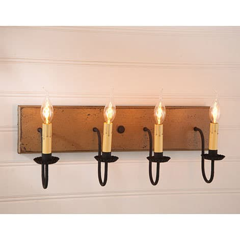 Four Arm Vanity Light in Americana Pearwood Image