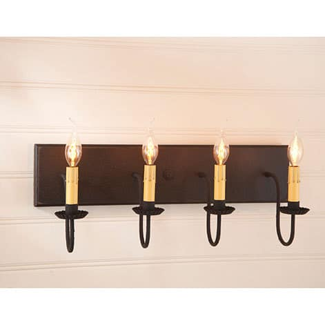 Four Arm Vanity Light in Americana Black Image