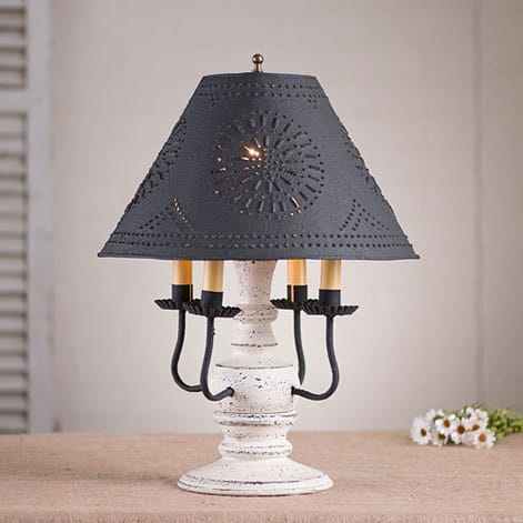 Cedar Creek Lamp in Americana Vintage White Image