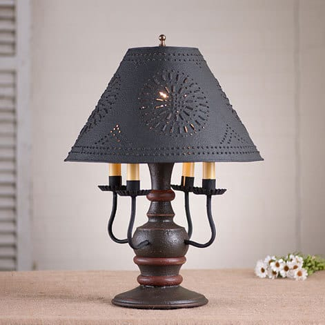 Cedar Creek Lamp in Americana Espresso with Salem Brick Stripe Image