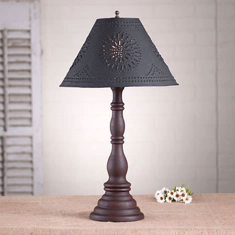 Davenport Lamp in Hartford Red over Black Image