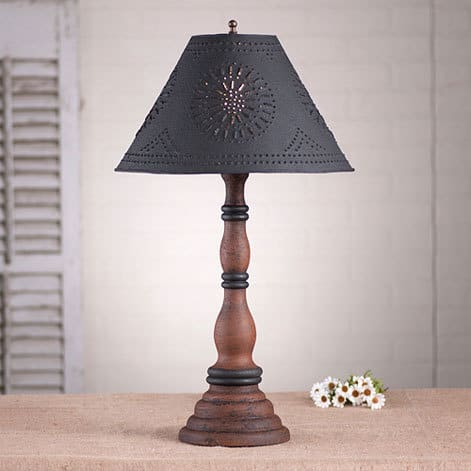 Davenport Lamp in Hartford Pumpkin over Black with Black Stripe Image