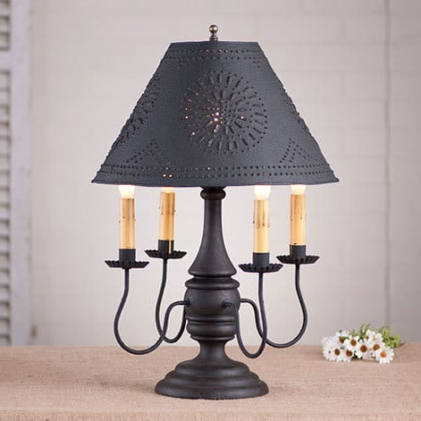 Jamestown Lamp in Hartford Black over Red Image