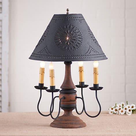 Jamestown Lamp in Hartford Pumpkin over Black with Black Stripe Image