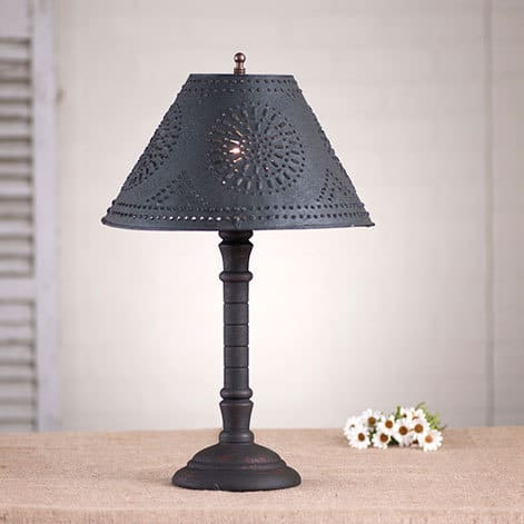 Gatlin Lamp in Hartford Black over Red Image