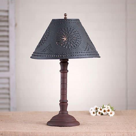 Gatlin Lamp in Hartford Red over Black Image