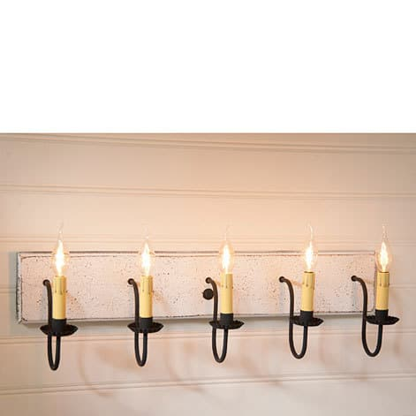 Five Arm Vanity Light in Americana Vintage White Image