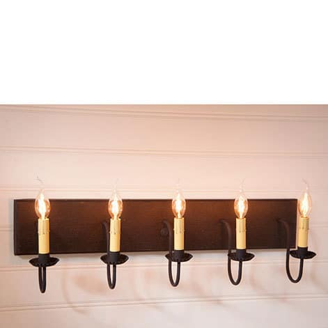 Five Arm Vanity Light in Americana Black Image